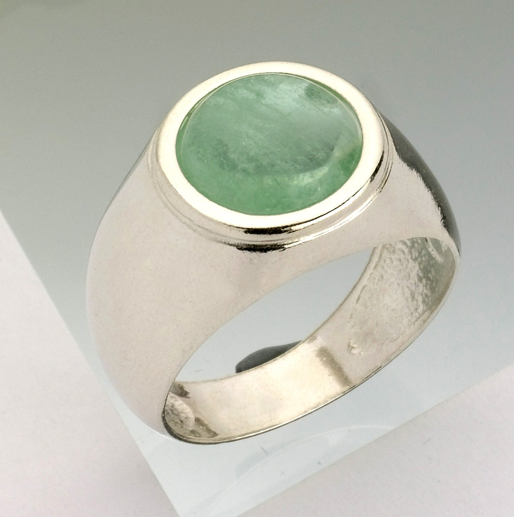 Kabbalah Encrypted Round Ring, Kabbalah Fluorite Ring, Powerful Protected Ring, Solitaire Fluorite Ring, Personalized Jewish Ring, Pure Aura Ring, Reinforces The Mental Body Ring, Magical Abilities Ring, Tranquility and Self Confidence Ring