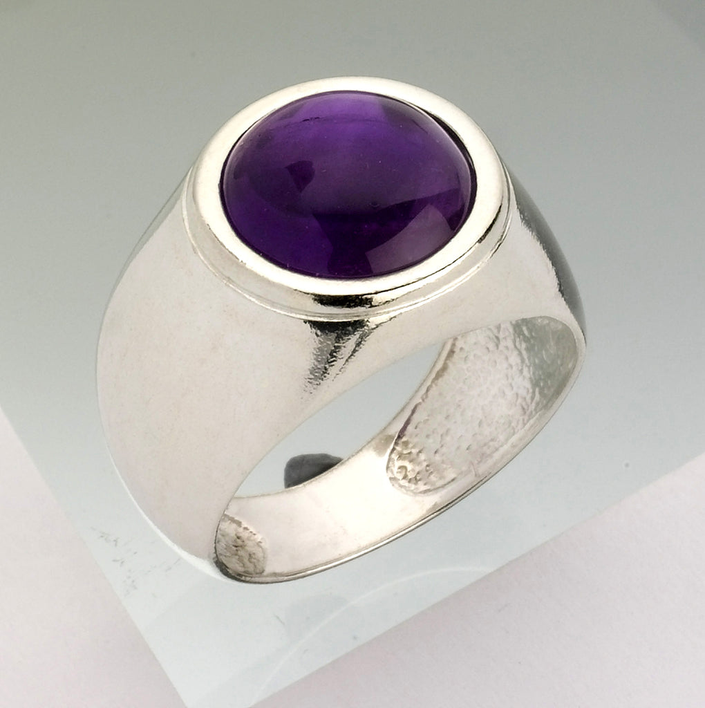 Kabbalah Solitaire Amethyst Ring, Kabbalah Encrypted Round Ring, Kabbalah Amethyst Ring, Powerful Protected Ring, Personalized Jewish Ring, Pure Aura Ring, Reinforces The Mental Body Ring, Magical Abilities Ring, Tranquility and Self Confidence Ring
