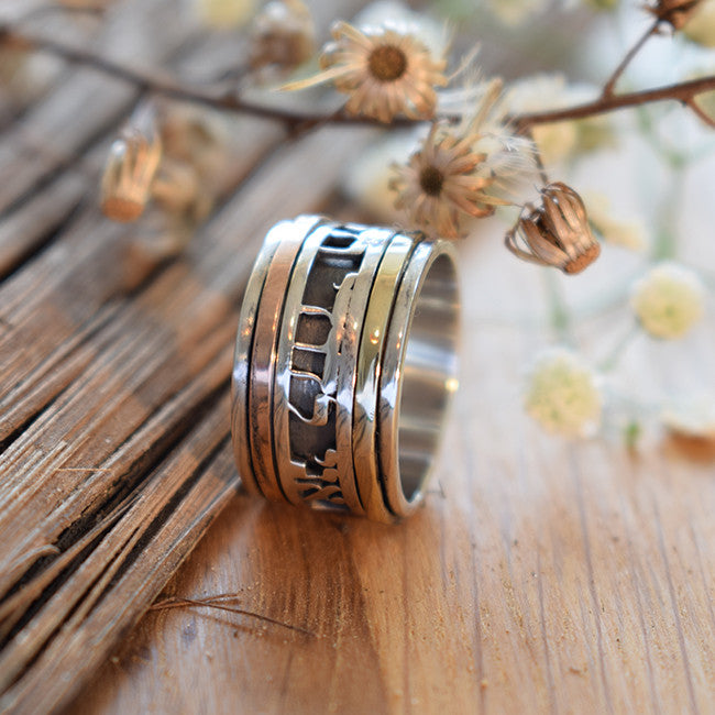 Spinner Rose Gold Ring, Handwriting Jewelry - Orpah