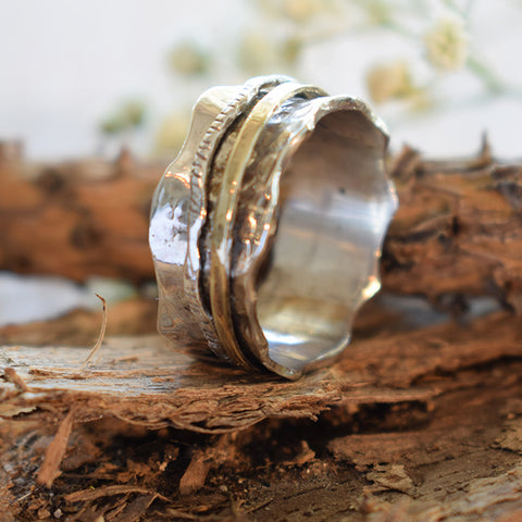Shoshana | Canaan Ring, Gold And Silver Rings, Spin Rings, Israel Jewelry Designers