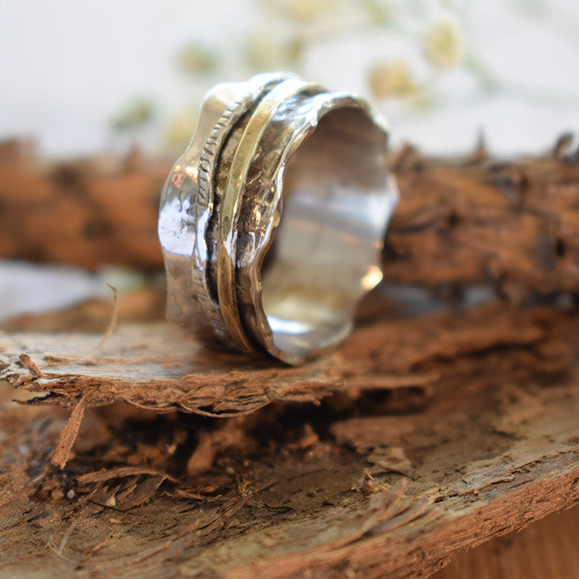 Shoshana | Gold And Silver Rings, Spin Rings, Israel Jewelry Designers