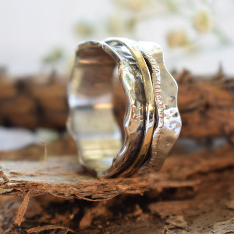 Hammered Spinner Ring - Shoshana