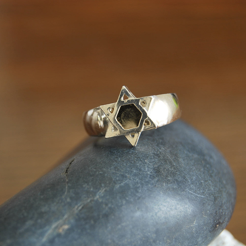 Kabbala Statement Ring, Star Of David Ring, Kabbalah 5 Metals Ring, Gold and Silver Jewish Ring, Magen David Ring, Amulet Hebrew Ring Ring, Prayer Bible Ring, Lord Spirit Ring, Traditional Jewish Symbol Ring, Judaism Faith Ring, Meditation Bible Ring