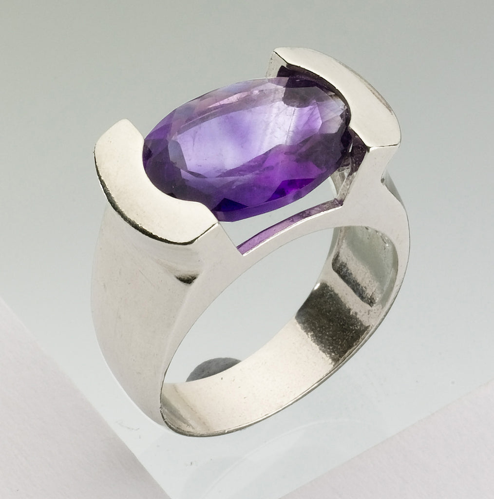 Amethyst Ring, Cameo Eye Ring - Adon