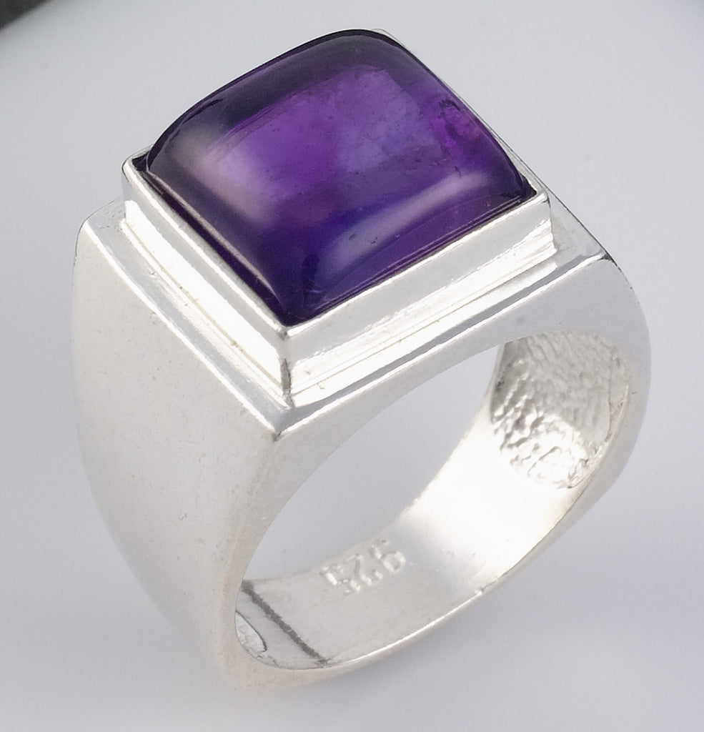 Purple Amethyst Gemstone Ring - Elisheba