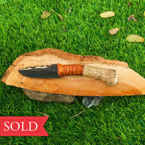 Flint Stone Knife (SOLD!) | One Of A Kind, Ancient Style Knife