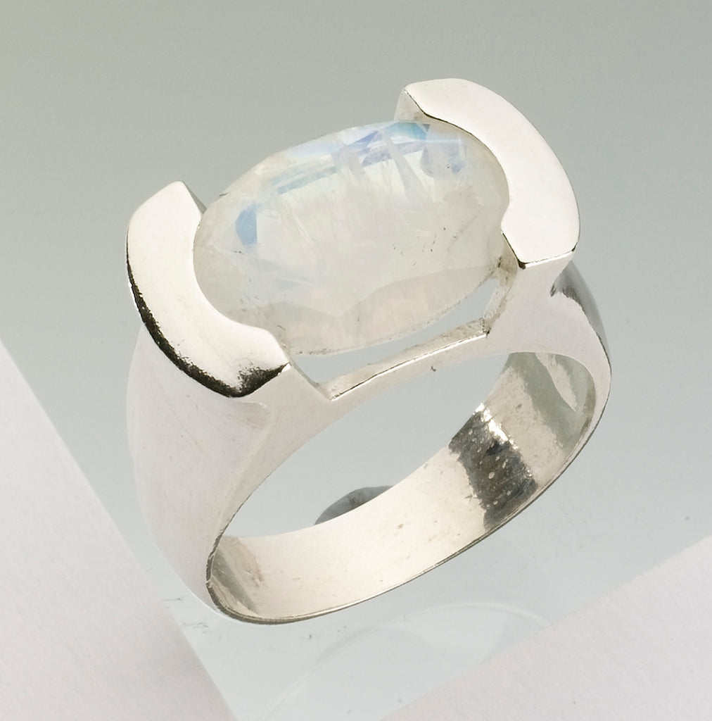 Moon Ring, Moonstone Jewelry, Judaica - Shira