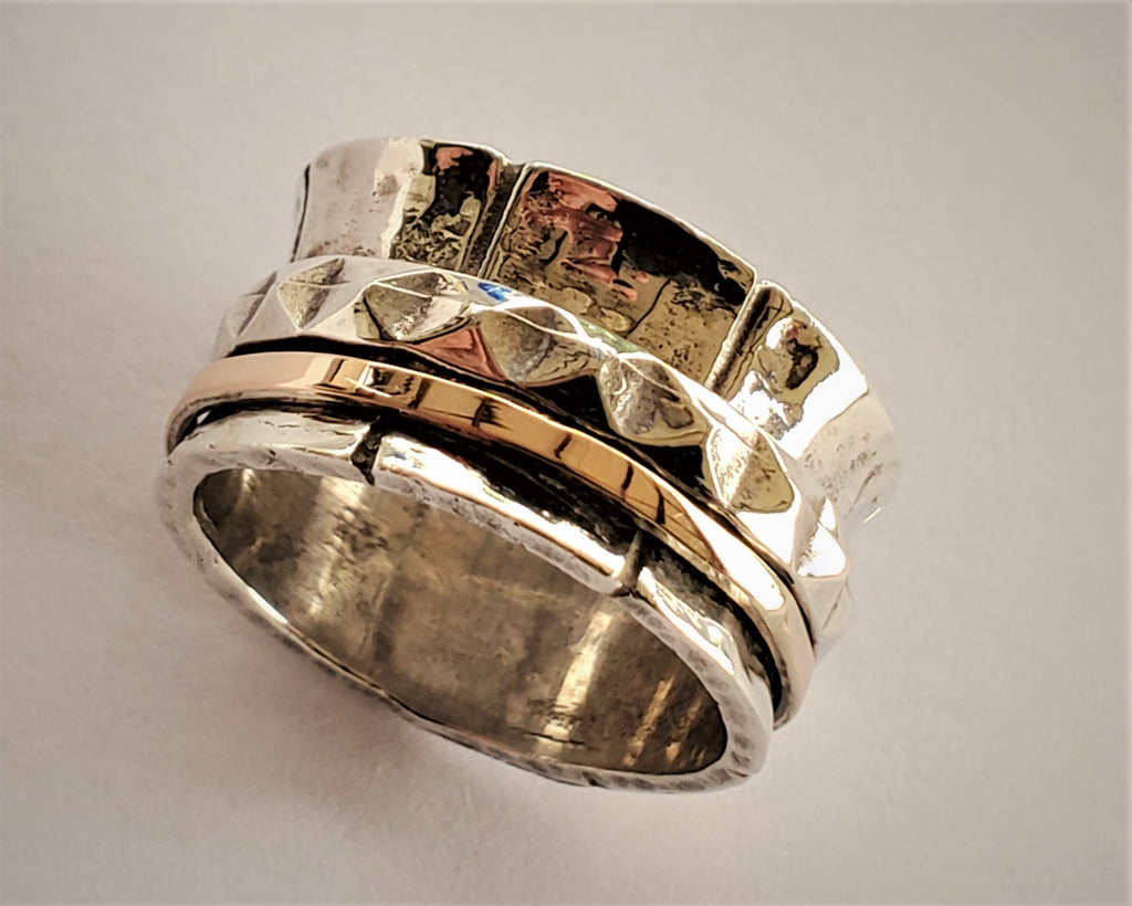 Wave Spinner Ring, Cluster Infinity Band - Adi