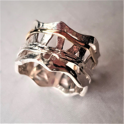 Crown Cluster Spinner Ring-Ekva