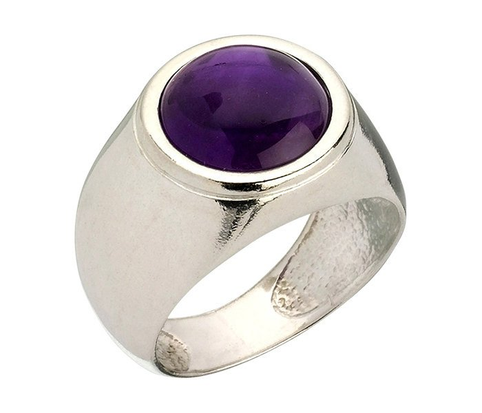 Amethyst Ring, Purple Gemstone - Bilhah