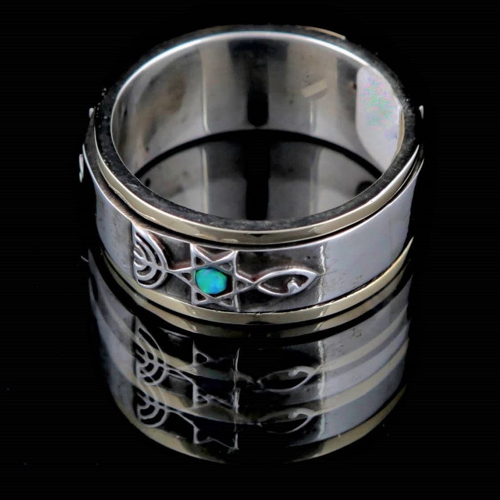 Hamutal | Evangelistic Statement Ring, Our Messiah Ring, Origin Of Faith Ring, Christian Faith Ring