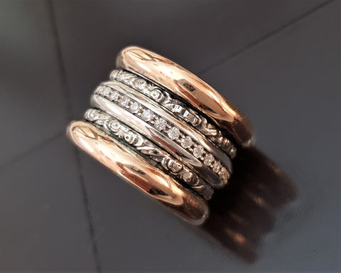Rose Gold Ring, Erotic Jewelry - Helah