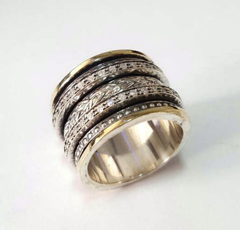 Men Wedding Band, Spinner Ring-Aviv