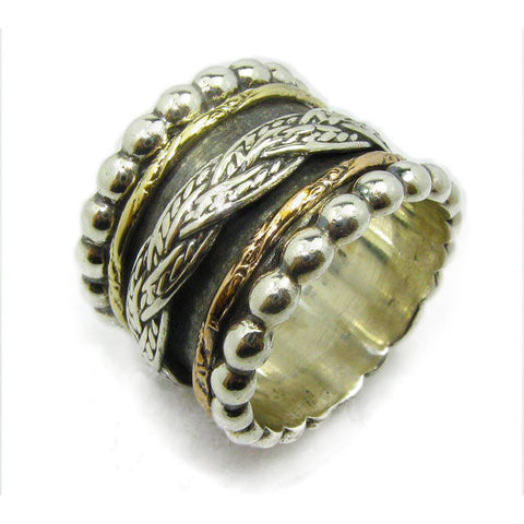 Shoshana Sheva | Canaan Ring, Gold And Silver Rings, Spin Rings, Unique Ring, Israel Jewelry Designers