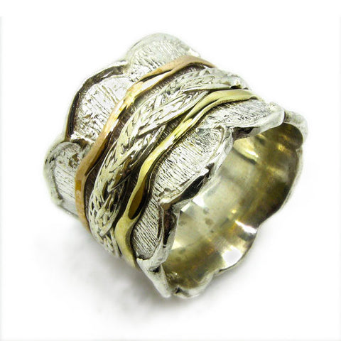 Tovit | Canaan Ring, Gold And Silver Rings, Spin Rings, Unique Ring, Amazing Rings Designs, Israeli Designer Jewelry, Authentic Israeli Jewelry Designers