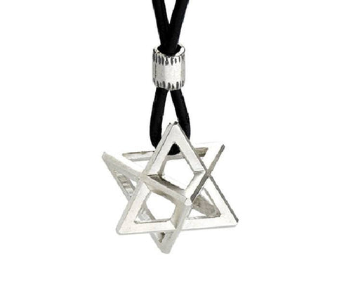 Jewish 3d Star Of David Necklace. The Small Chariot Pendant (ha Merkava) ,jewelry, Jewish Necklace, Kabbalah Necklace, Spiritual, Judaica