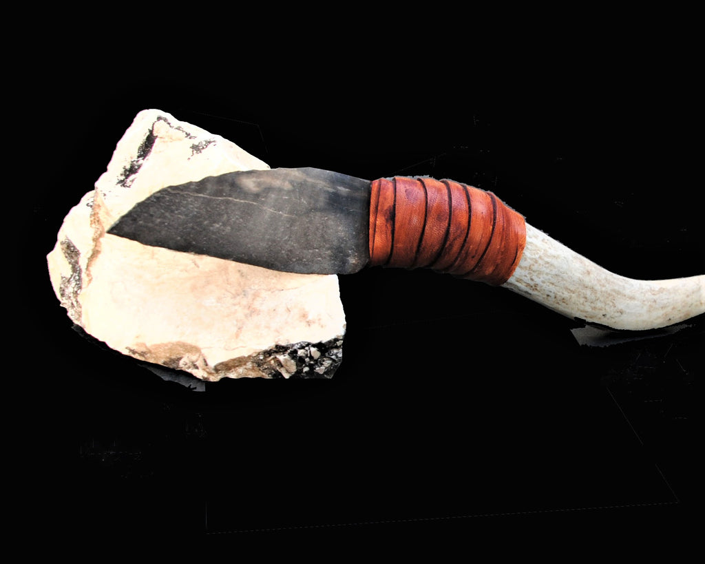 Flint Stone Knife 3 | Ancient Daggers Knife, Worrior Art Tool, Tribal Hunting Weapon, Stone Age Knife