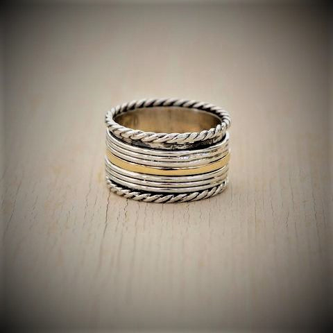 Handmade Spinner Ring - Lev