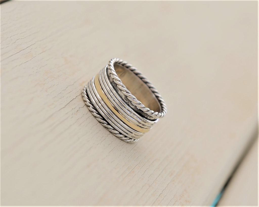Handmade Spinner Ring, Personalized Statement Ring - Lev