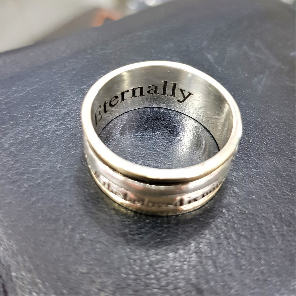 Laser Inner Engraving Ring, Purchase Special Engraving, Customized Engraving, Hebrew Engraving Ring, Personalized Engraving Ring