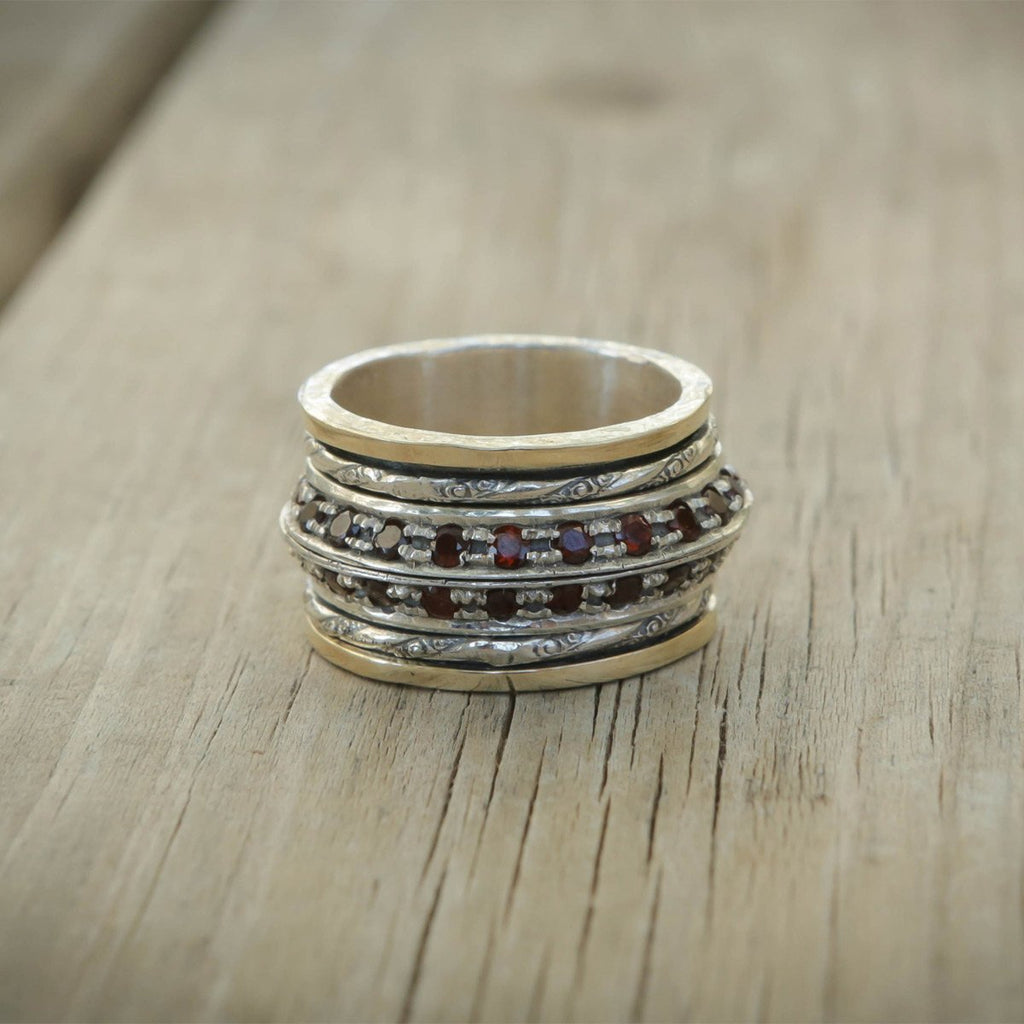 Rubbies Stone Ring,Gold And Silver Sterling Ring, Romantic Ring ,Gift For Her, Rings, Women Ring ,Statement Ring, Anniversary Ring