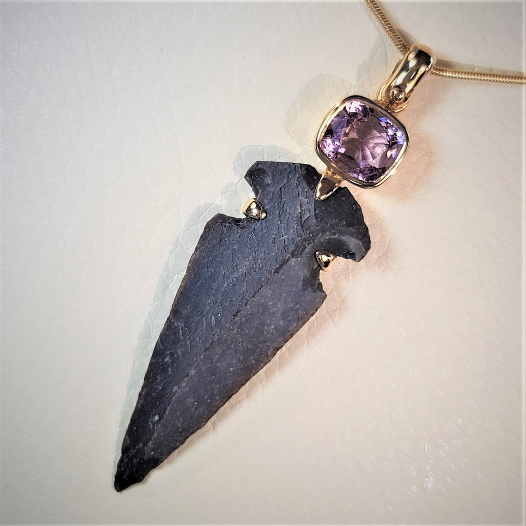 Pink Spinel Designed Pendant, One of A Kind Precious Gift, Valuable Jewel For Her, Ancient Style Queen Jewel, Bohemian Statement Pendant, Indian Chief Necklace Pendant, Solitaire Gift For Her, Flint Stone Arrowhead Pendant, Tribal Neolitic Jewelry