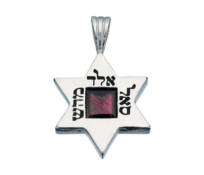 Star Of David Garnet Necklace - David 10