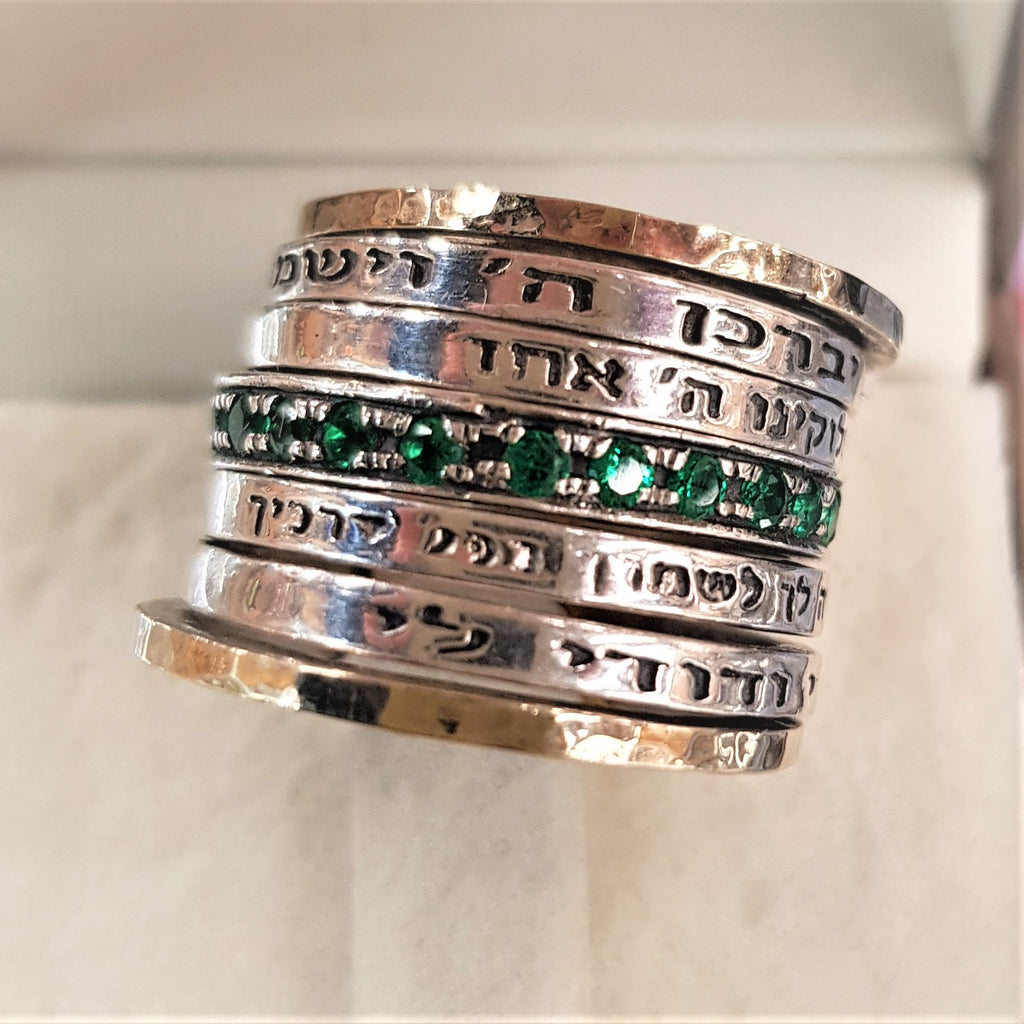 Taphath | Biblical Rings, Amazing Rings Designs, Hebrew Inscribed Rings, Spin Rings, Gold & Silver Rings, Emerald Zircon Rings, Designer Israeli Jewelry, Authentic Israeli Jewelry Designers