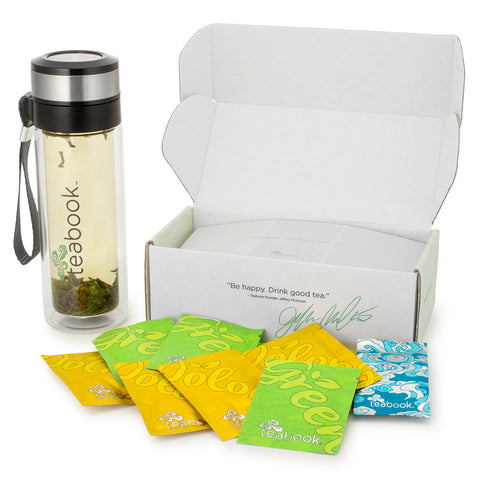 Teabook Deluxe Set (Sample Box + Travel Tumbler) - Teabook