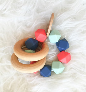 wooden teether wood teething ring wood teether unique baby toys teething toy teething rattle teether toy soothing toy soothing teether rainbow teether natural teether natural baby toy infant teether baby teether, feltman and co teether, feltman and co,  feltman co