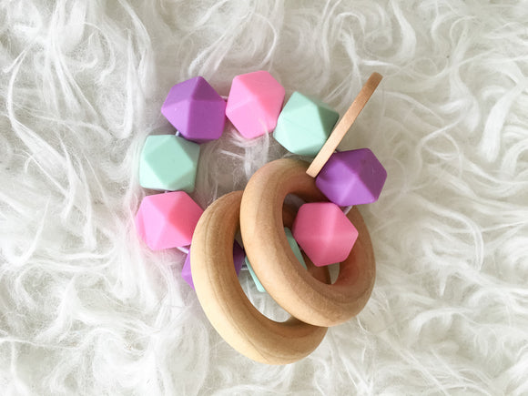 Sherbet Teether Rattle