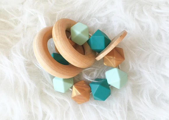 Emerald Glamour Teether Rattle