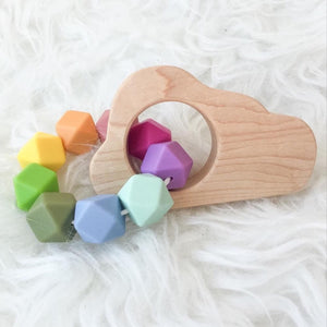 Cloud Wood Shape Teether