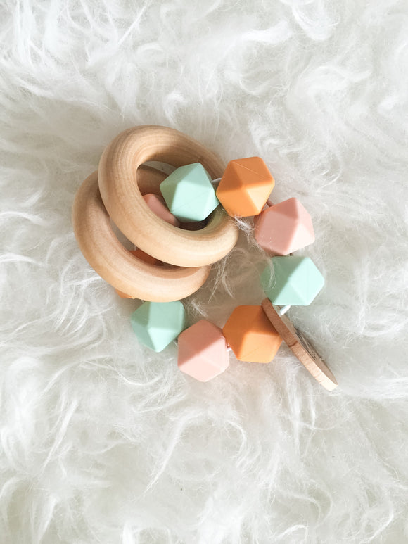 Vintage Mint Teether Rattle