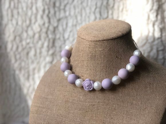 Lavender Pearl Sensory/Teething Necklace