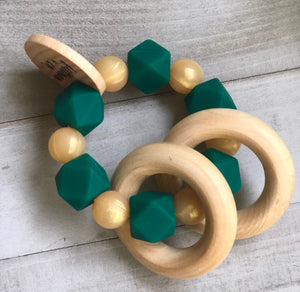 Golden Forest Teether Rattle