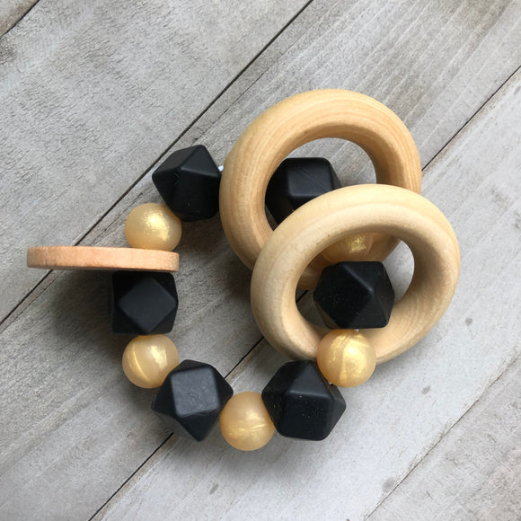 Golden Onyx Teether Rattle