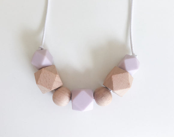 Lavender & Wood Teething/Sensory Necklace