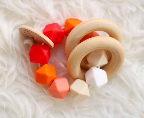 Red Ombre Teether Rattle