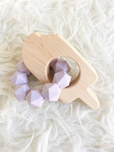 Purple Popsicle Teething Toy - Back ordered