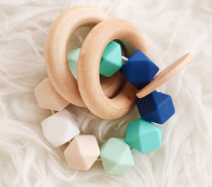 Blue Ombre Teether Rattle