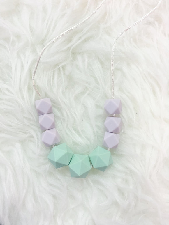 Mint-Lavender Teething/Sensory Necklace