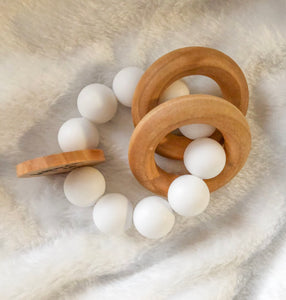 White Round Teether