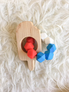 Rocket Popsicle Teething Toy