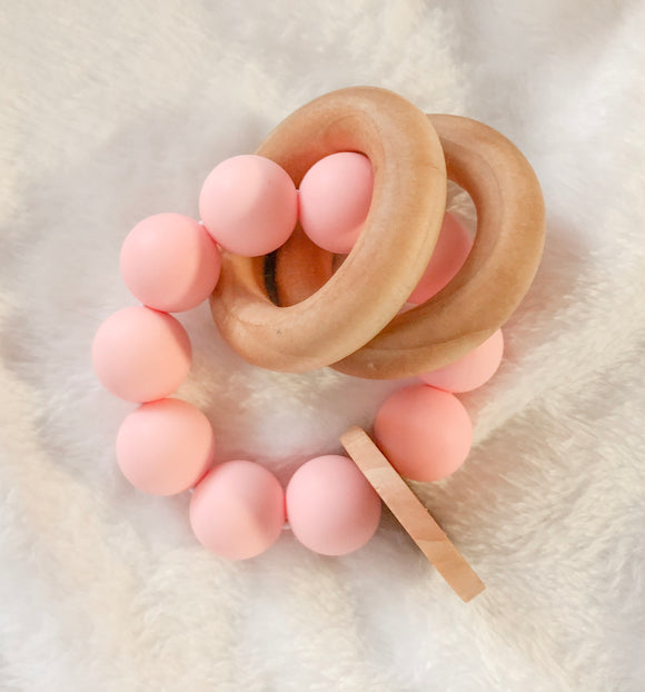 Pink Round Teether