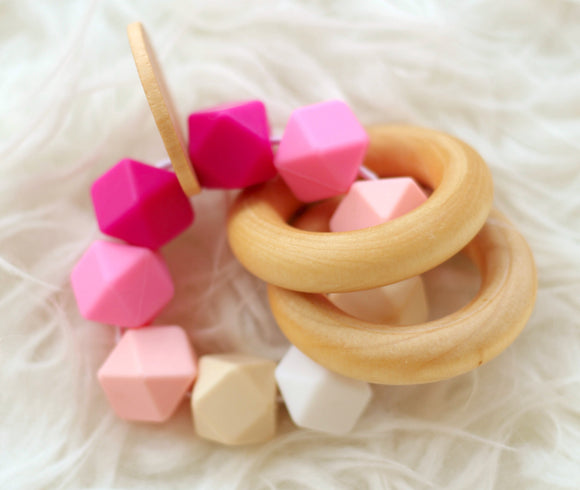 Pink Ombre Teether Rattle