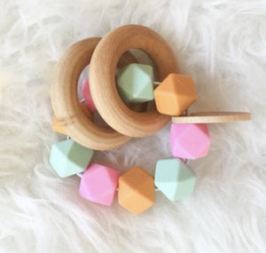 Bubble Gum Teether Rattle