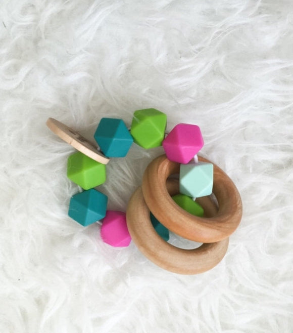Tropical Flower Teether Rattle
