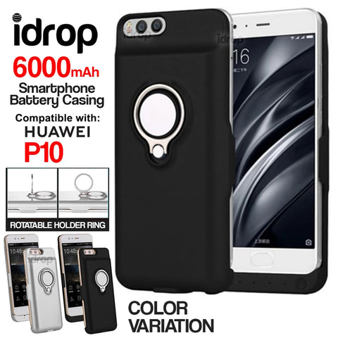 idrop 6000mAh External Battery Case Compatible For HUAWEI P10