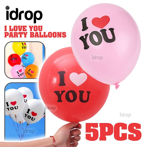 idrop [ 5pcs ] I ❤ YOU - I love You Party Celebration Balloon
